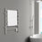 Comfort Dual 6-Bar Hardwired and Plug-in Towel Warmer in Brushed Stainless Steel