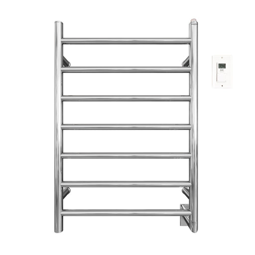 Comfort 7 - 31 in. Hardwired Electric Towel Warmer and Drying Rack in Chrome with Timer