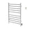 Comfort Dual 10-Bar Hardwired and Plug-in Towel Warmer in Polished Stainless Steel with Timer