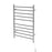 Ancona Comfort Dual 10-Bar Hardwired and Plug-in Towel Warmer in Polished Stainless Steel