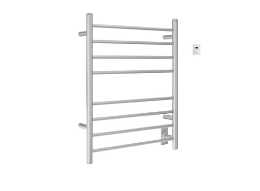 Ancona Prestige Dual 8-Bar Hardwired and Plug-in Towel Warmer in Brushed Stainless Steel with Timer