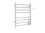 Prestige Dual 8-Bar Hardwired and Plug-in Towel Warmer in Brushed Stainless Steel with Timer