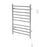 Novara Dual 10-Bar Wall Mount Towel Warmer in Polished Stainless Steel with Wall Countdown Timer
