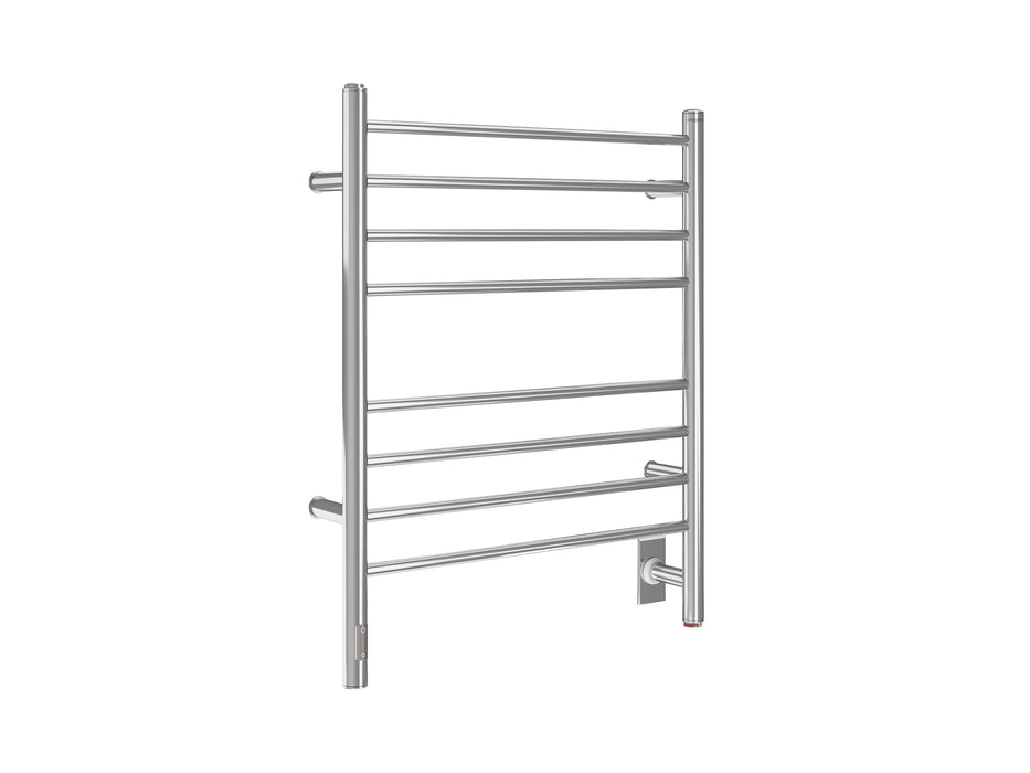Prestige OBT 8-Bar Wall Mounted Towel Warmer with Integrated On-Board Timer in Polished Stainless Steel