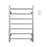 Comfort 7-Bar Hardwired Towel Warmer in Brushed Stainless Steel with Wall Countdown Timer