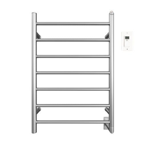 Comfort 7 - 31 in. Hardwired Electric Towel Warmer and Drying Rack in Brushed Stainless Steel with Timer