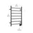 Ancona Comfort 7-Bar Hardwired Towel Warmer in Matte Black with Wifi Timer