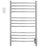 Lustra Dual 12 Curved Bar Hardwired and Plug-in Towel Warmer in Polished Stainless Steel with Countdown Wall Timer