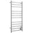 Prima Dual XL 12-Bar Hardwired and Plug-in Electric Towel Warmer in Polished Stainless Steel
