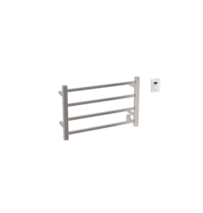 Ancona Gala Dual 4-Bar Hardwired and Plug-in Towel Warmer in Brushed Stainless Steel with Timer