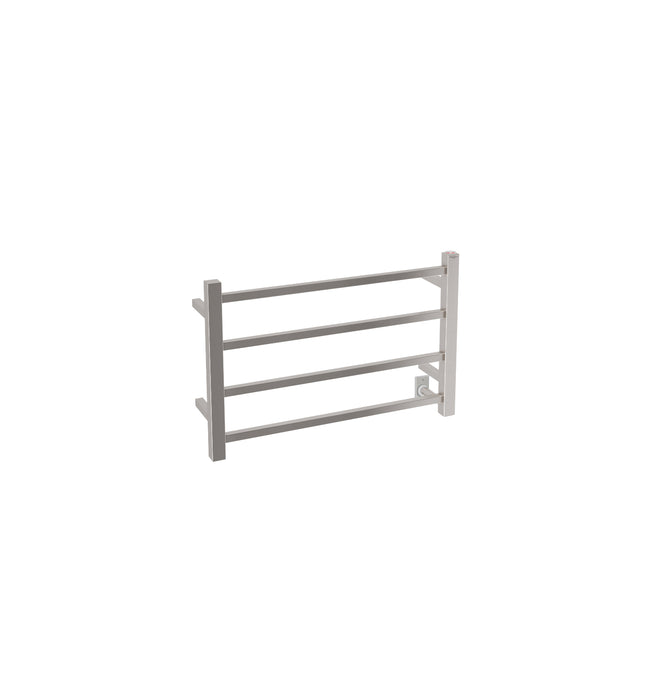 Ancona Gala Dual 4-Bar Hardwired and Plug-in Towel Warmer in Brushed Stainless Steel