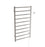 Gala Dual XL 10-Bar Hardwired and Plug-in Towel Warmer in Brushed Stainless Steel with Timer
