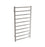 Gala Dual XL 10-Bar Hardwired and Plug-in Towel Warmer in Brushed Stainless Steel