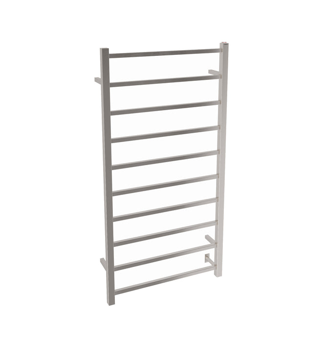 Ancona Gala Dual XL 10-Bar Hardwired and Plug-in Towel Warmer in Brushed Stainless Steel