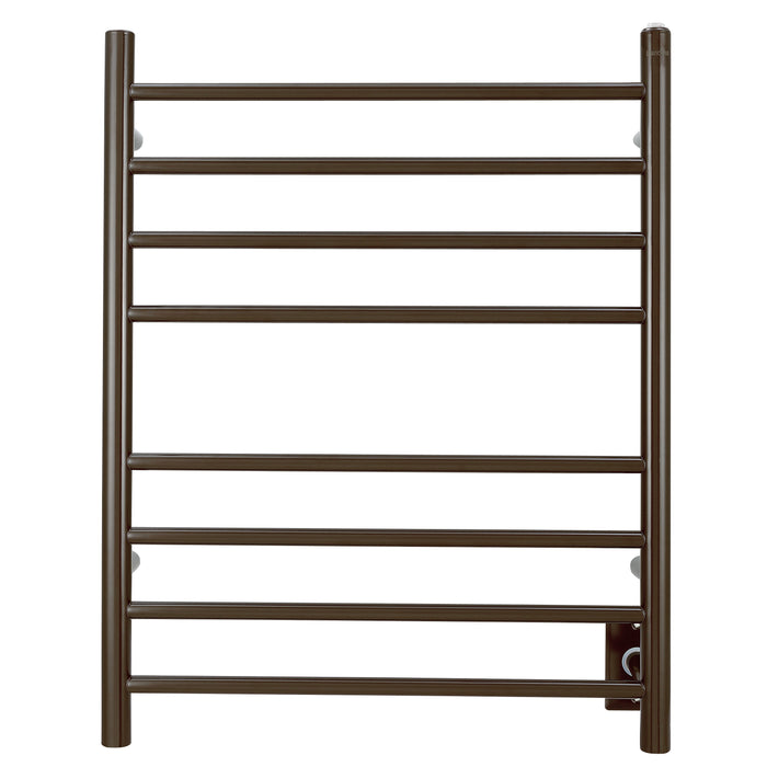 Prestige Dual 8-Bar Hardwired and Plug-in Towel Warmer in Oil Rubbed Bronze Stainless Steel