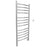 Svelte Rounded 40 in. Hardwired Electric Towel Warmer and Drying Rack in Polished Stainless Steel with Timer