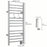 Ancona Svelte Rounded 13-Bar Hardwired Towel Warmer with 2 Adjustable Hooks in Brushed Stainless Steel