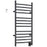 Svelte Rounded 40 in. Hardwired Electric Towel Warmer and Drying Rack in Matte Black with Wall Timer