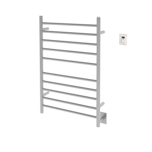 Comfort Dual 10-Bar Hardwired and Plug-in Towel Warmer in Brushed Stainless Steel with Timer