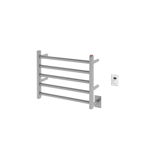 Ancona  Prima Dual 5-Bar Hardwired and Plug-in Electric Towel Warmer in Brushed Stainless Steel with Timer