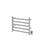 Ancona Prima Dual 5-Bar Hardwired and Plug-in Electric Towel Warmer in Brushed Stainless Steel