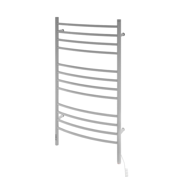 Lustra OBT 12 Bar Dual Wall Mount Towel Warmer with Integrated On-Board Timer in Brushed Stainless Steel