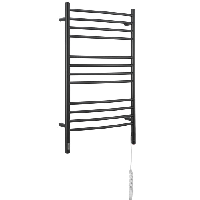Lustra OBT 12 Bar Dual Wall Mount Towel Warmer with Integrated On-Board Timer in Matte Black