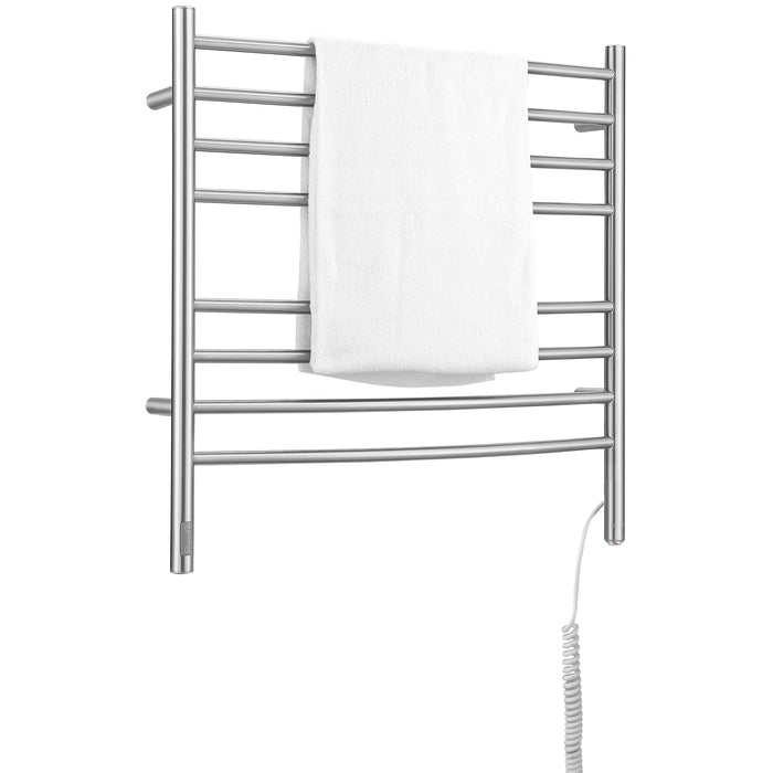 Arezzo OBT 8 Bar Hardwired and Plug-in Towel Warmer in Brushed Stainless Steel