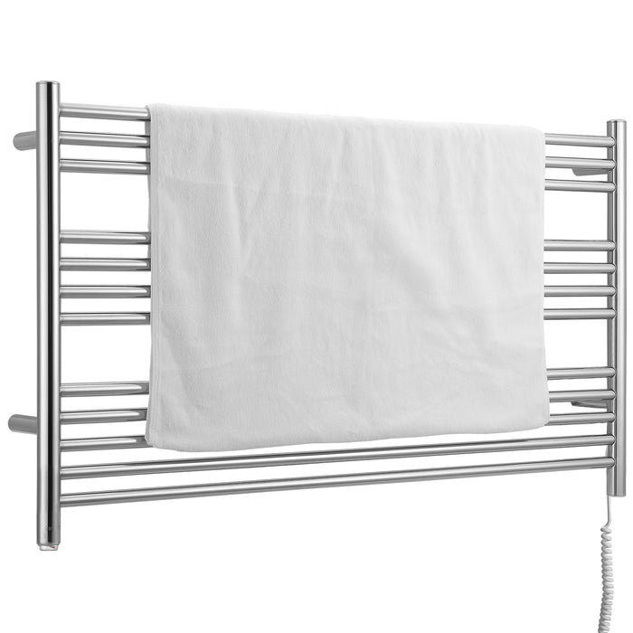 Ancona Amplia Dual 12-Bar Hardwired and Plug-in Towel Warmer in Chrome