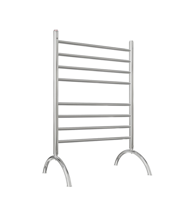 Essentia 8-Bar Freestanding Towel Warmer in Polished Stainless Steel