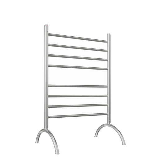 Essentia 8-Bar Freestanding Towel Warmer in Brushed Stainless Steel