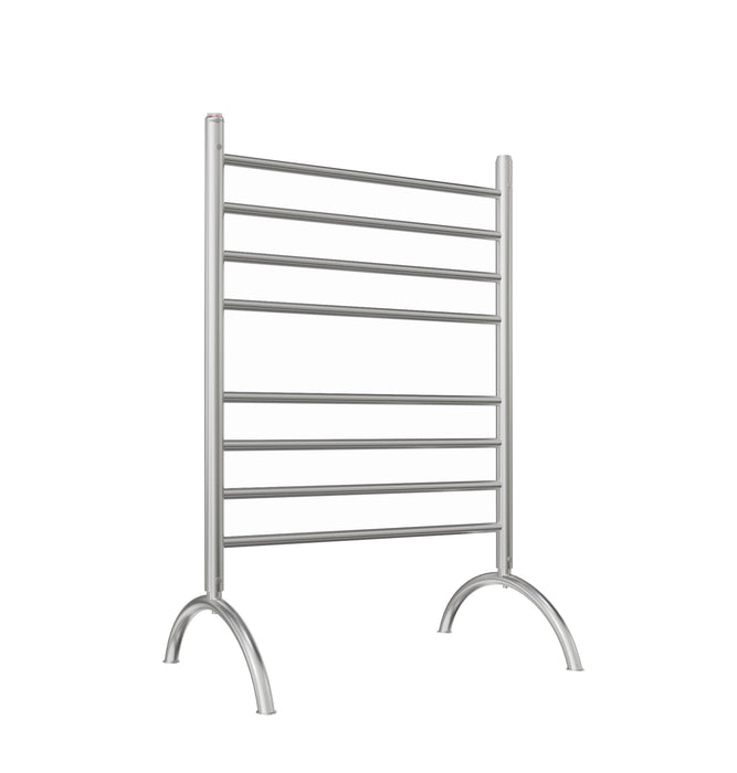 Ancona Essentia 8-Bar Freestanding Towel Warmer in Brushed Stainless Steel