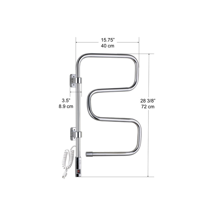 Ancona Wall Swivel Curved Chrome