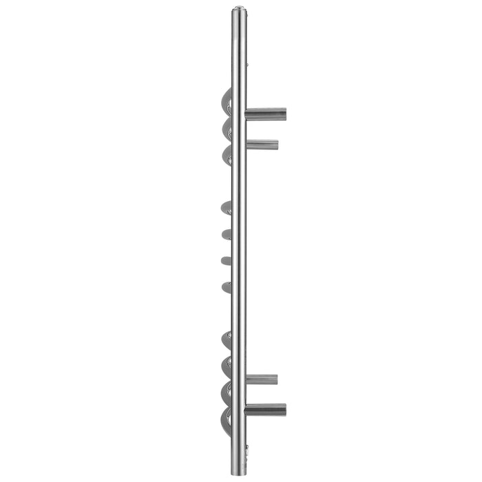 Ava OBT 3 in 1, 11 Bar Towel Warmer with Integrated On-Board Timer in Polished Stainless Steel