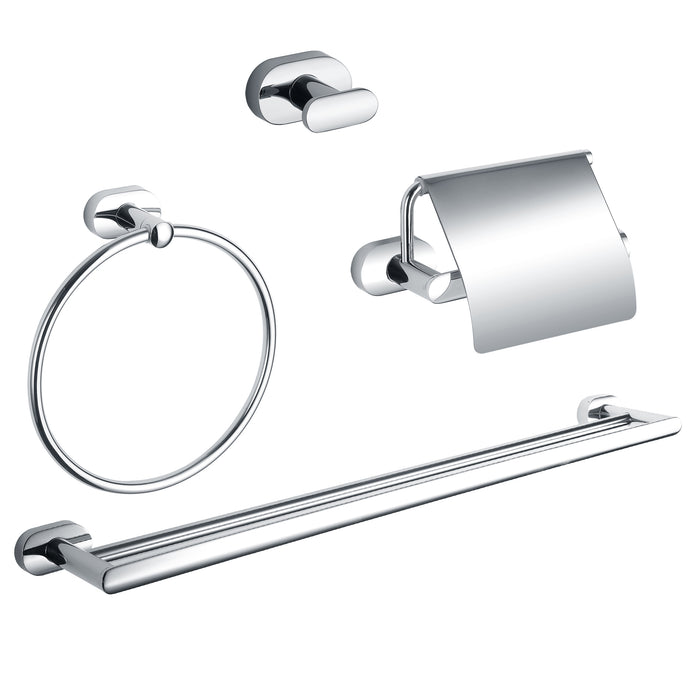 Ancona Aria 4-piece Bathroom Accessory Set in Chrome
