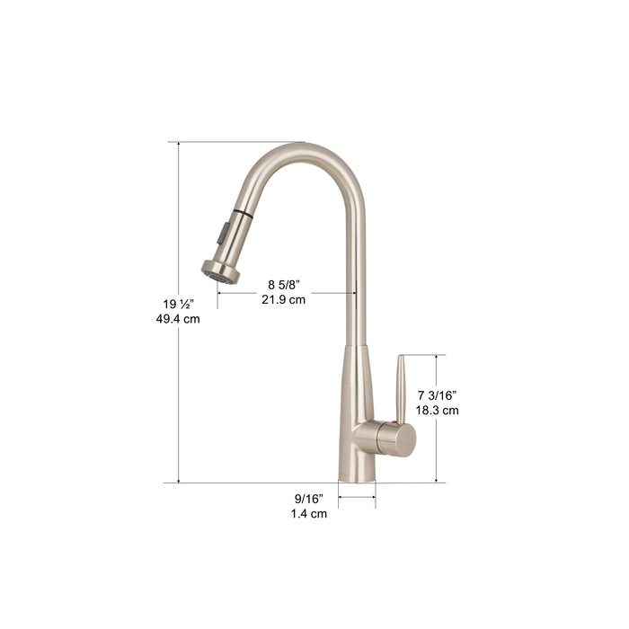 Signature Ii Pull Out Single Handle Bar Kitchen Faucet