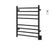 Ancona Prestige Dual 8-Bar Hardwired and Plug-in Towel Warmer in Matte Black with Timer