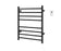 Prestige Dual 8-Bar Hardwired and Plug-in Towel Warmer in Matte Black with Timer