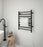 Prestige Dual 8-Bar Hardwired and Plug-in Towel Warmer in Matte Black