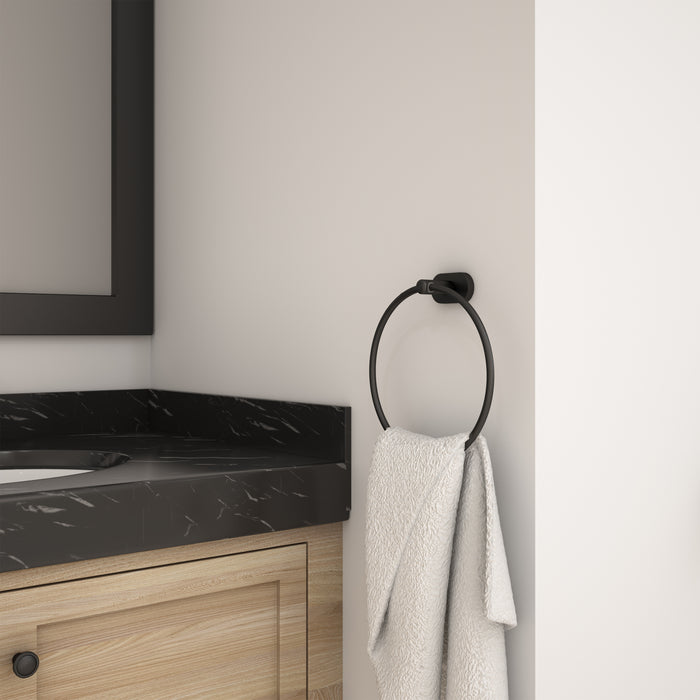 Aria 4-piece Bathroom Accessory Set in Matte Black