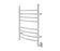 Comfort 8 Ova Hardwire Curved Brushed Stainless-Steel Towel Warmer with Wall Timer