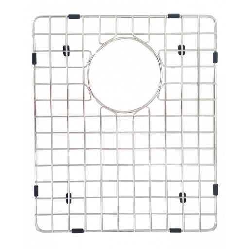 Kitchen 304 Stainless Steel Sink Grid with Polished Chrome Finish, 14.25-inch, Sink Grid for Premium 25 Degree Double Kitchen Sink