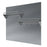 36 in. Stainless Steel Backsplash with two-tiered shelf and rack