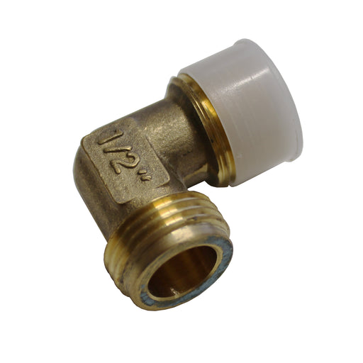 Elbow fitting for gas regulator