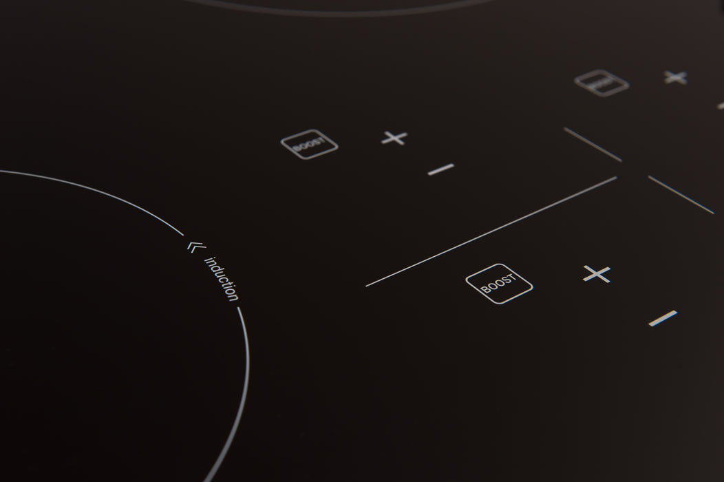 Ancona Elite 36 in. Glass-Ceramic Induction Cooktop in Black with 5 Elements Featuring Individual Boost Function