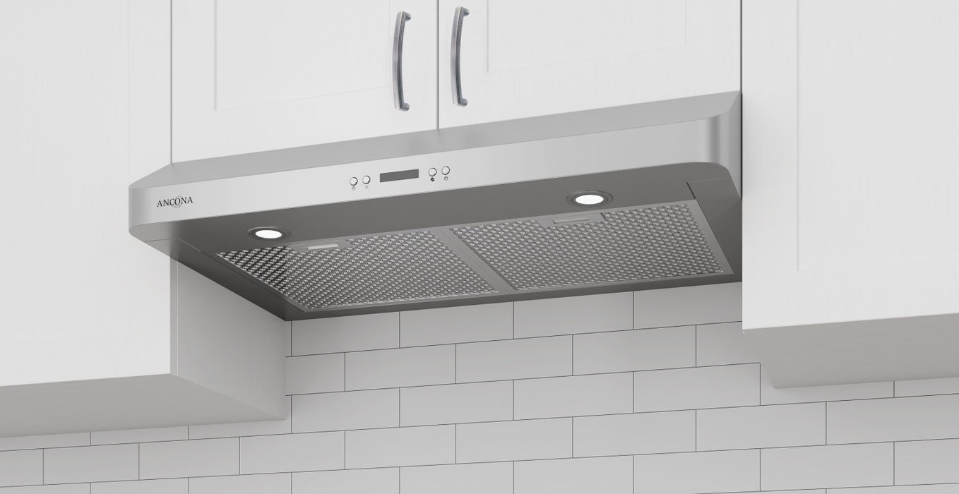 Ancona UC570 30 in. Range Hood with LED Lights in Stainless Steel