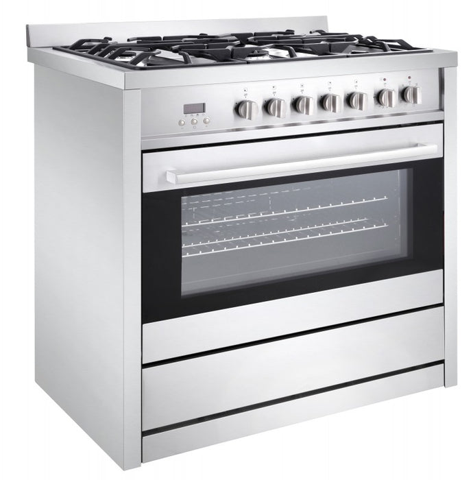 Gourmet 36 in. Dual Fuel with Convection Oven Freestanding Range