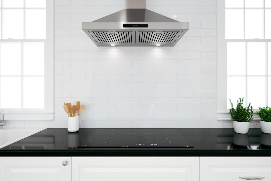 WPRL430 30 in. Convertible Wall Mount Range Hood Pyramid Style in Stainless Steel