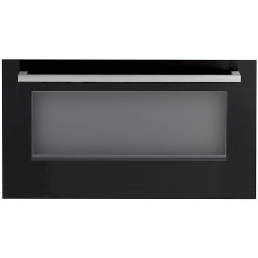 Black ceramic oven door