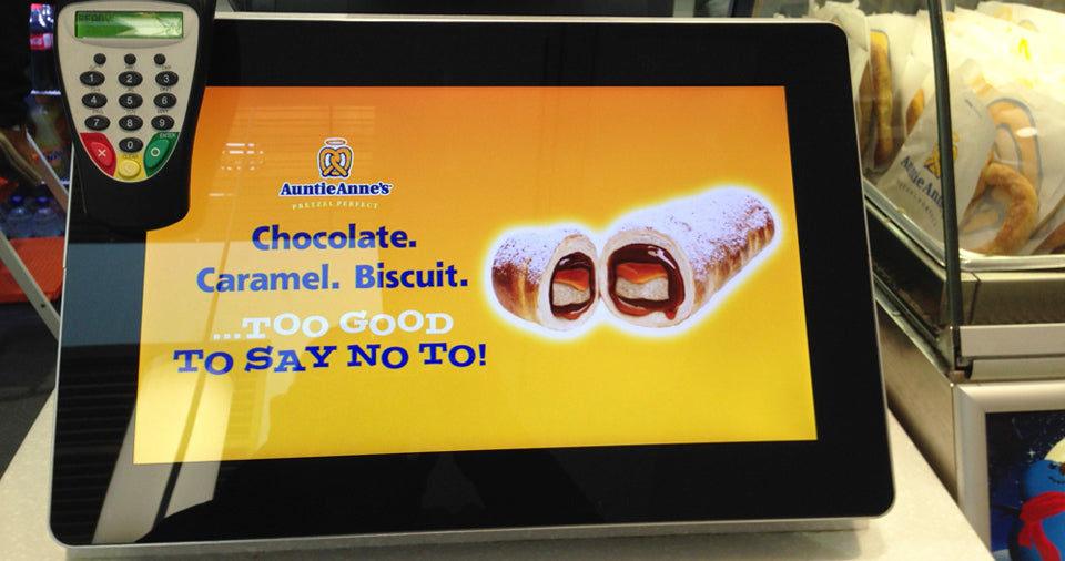 Indoor Wall-Mounted Digital Signage Used at POS